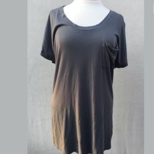 Splendid M Grey Cotton T Tunic
